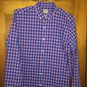 J Crew Men's Buttondown Gingham Shirt Size Medium